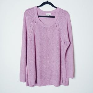 Loft Pink Knit Sweater. Size Large